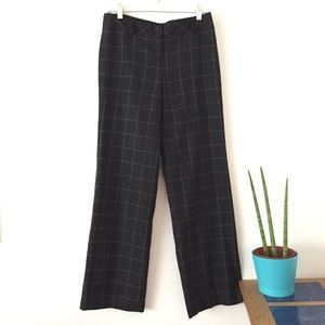 ANN TAYLOR LOFT Plaid Pant Black & White 2